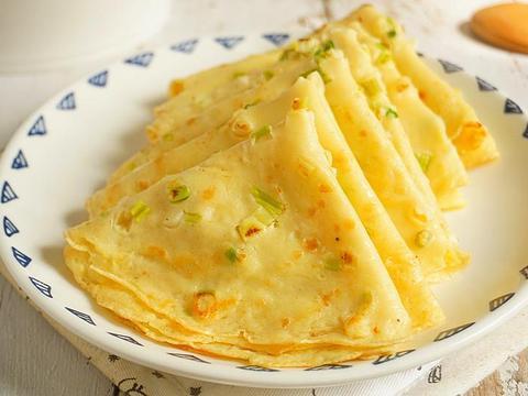 又薄又软的鸡蛋饼,面粉和水的比例很重要,营养早餐15分钟就上桌
