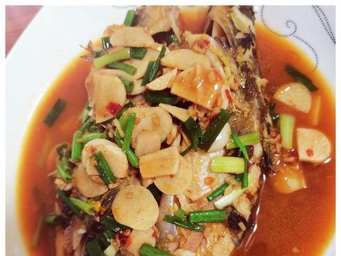 海鲜酱烧黄骨鱼,鲜美入味,下酒下饭