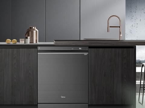 全新顶控洗碗免弯腰!美的中式灭菌洗碗机GX800享变频洗烘新体验