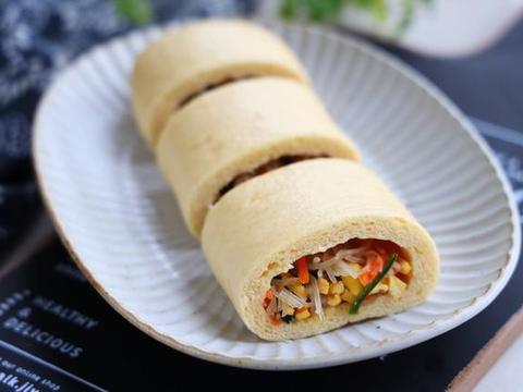 懒人包子的做法,少油少盐,低脂饱腹,减肥期间也能吃,营养解馋