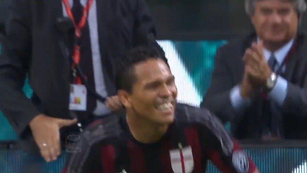 AC米兰3-2巴勒莫,巴卡进球