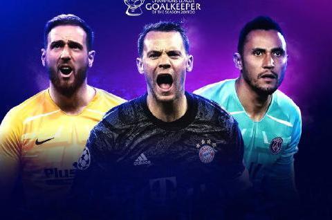 欧足联公布欧冠各位置最佳三人后偶像!近十年梅罗首次无缘!