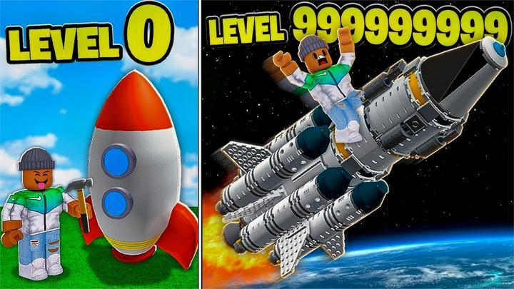 Roblox发射火箭模拟器:升级超级火箭!一下飞到外太空?小格解说
