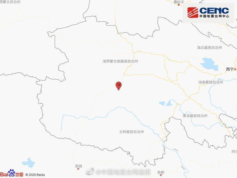 青海海西州格尔木市发生3.2级地震 震源深度7千米