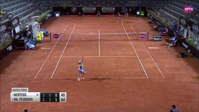 WTA罗马超五赛1/4决赛……