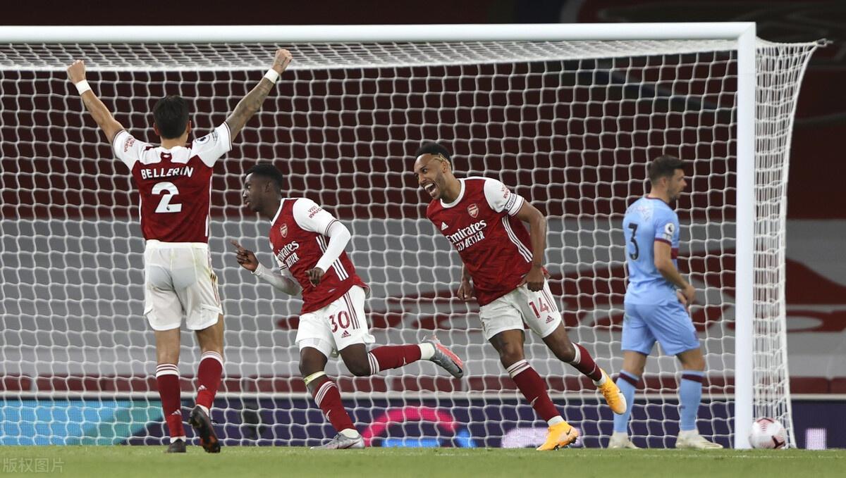 2020-2021赛季英格兰超级联赛第2轮展开角逐,阿森纳坐镇酋长球场迎战西汉姆联
