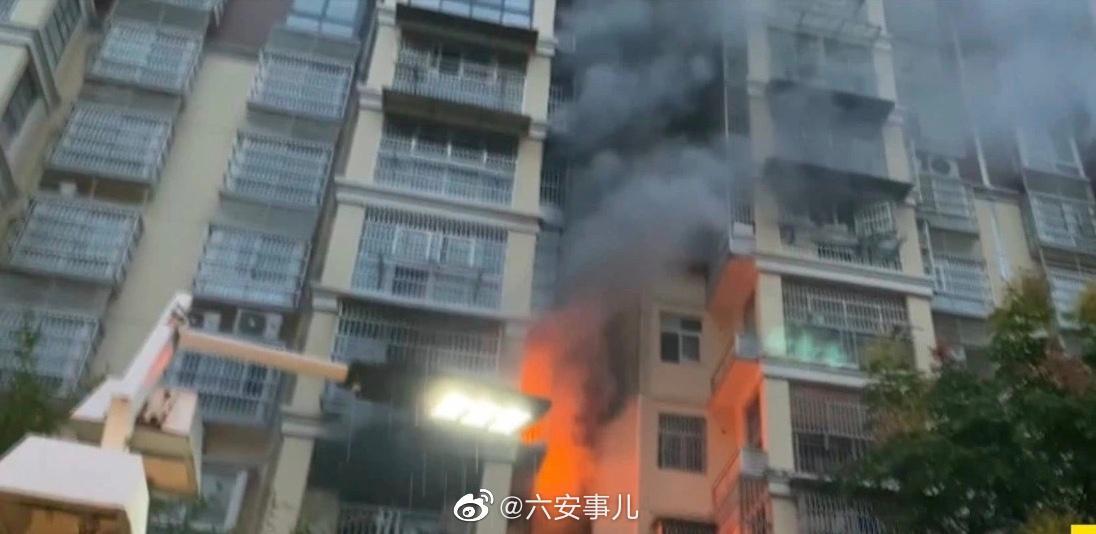 六安 清水河畔小区一住户家突发大火 ……