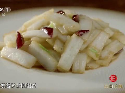 舌尖上的中国:用高端技巧,炒出来的金边白菜,散发着幽香