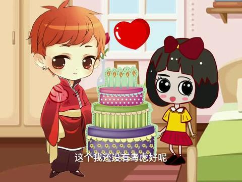 大家都只记得贝儿的生日,只有王子一个送给白雪超级大生日蛋糕!