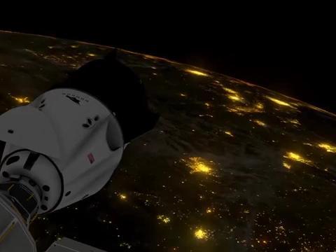 动画模拟SpaceX龙飞船2号发射任务的全部过程
