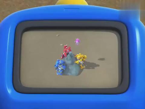超级飞侠:金刚突然出现,钻到地下推石头,大家终于把石头移走了