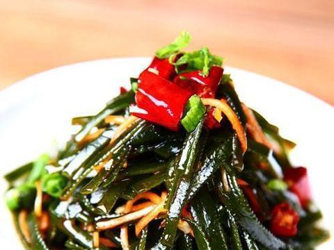 美食推荐:辣拌海带丝,紫薯苦瓜圈,蒜蓉洋葱头,剁椒粉丝蒸茄子