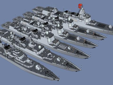"""4艘052D、2艘055大驱,2020年海军或可接收6艘""""盾舰""""!"""