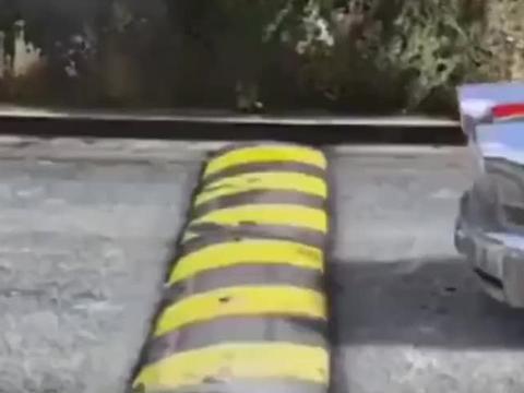 顶配银色红旗过减速带,看完发现自己车就是弹簧
