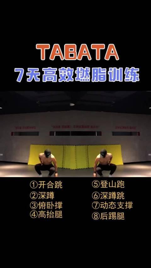tabata7天燃脂挑战,赶紧行动起来新手健身计划