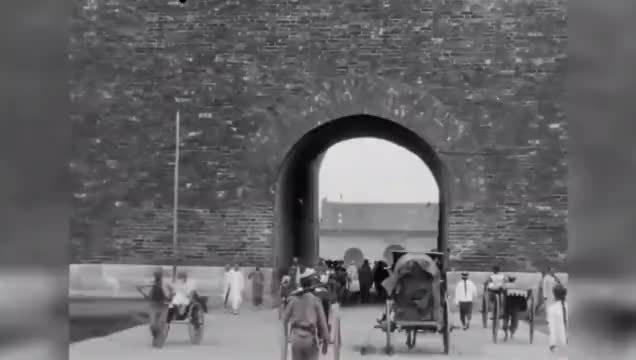 清朝市井生活的真实影像,后期加色修复