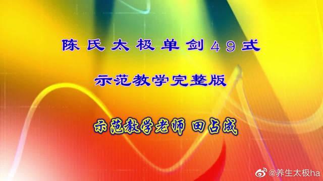 老大爷晨练传统武术陈氏太极单剑四十九式示范教学!