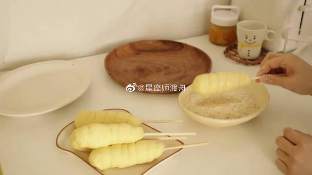 韩国美食博主的料理记录vlog,制作酥脆的明朗热狗肠