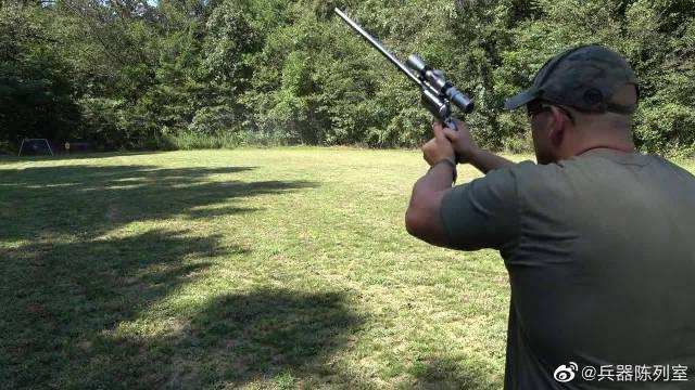 """不一样的M500马格南左轮,俗称""""掌炮""""这枪管也太长了吧?"""
