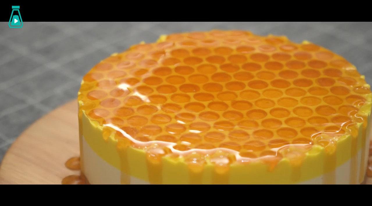 免烤箱蜂蜜芝士蛋糕 这颜值,很可以了!