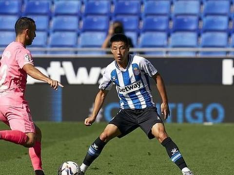 10人西班牙人闷平马洛卡,武磊又得全队最低分,德托马斯0射门