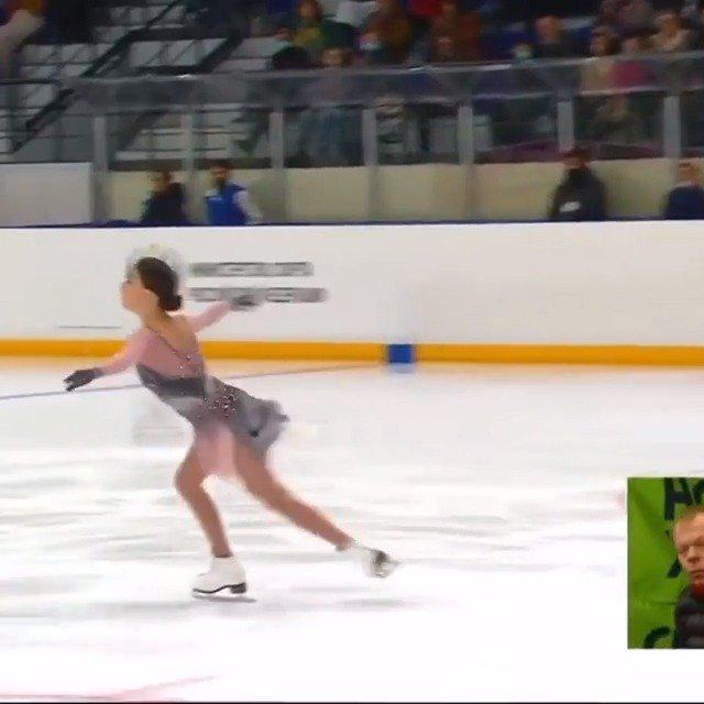 """2020俄罗斯杯女单自由滑,""""千金""""谢尔巴科娃成功完成4F"""