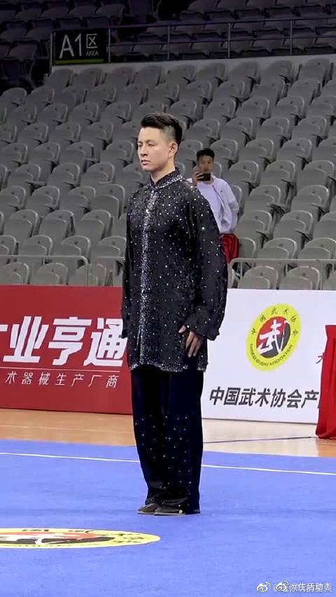 2019年全国武术套路锦标赛,男子太极拳第一名杨顺洪(陕西)