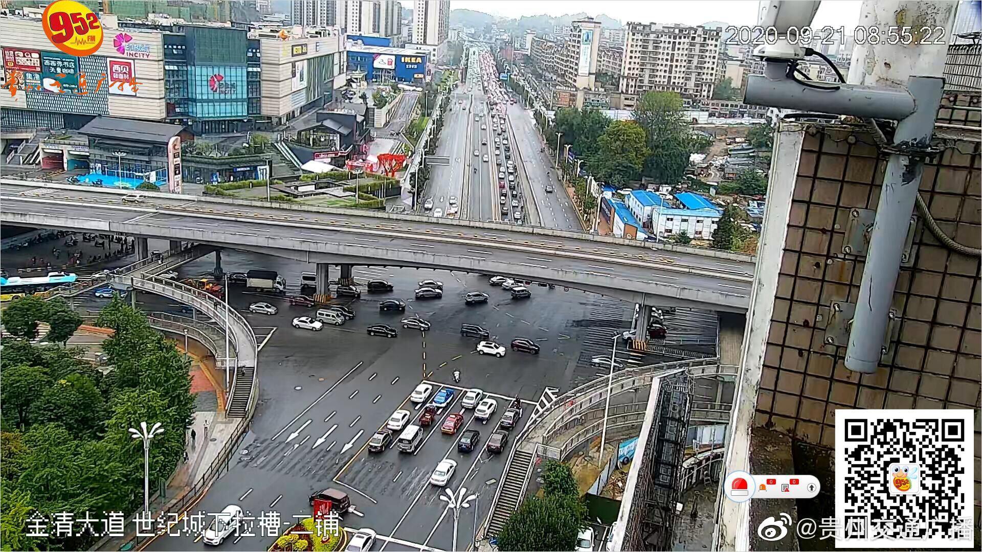 北京西路,世纪城下拉槽往二铺车多缓行严重……