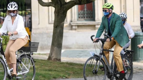比利时布鲁塞尔举行一年一度无车日活动