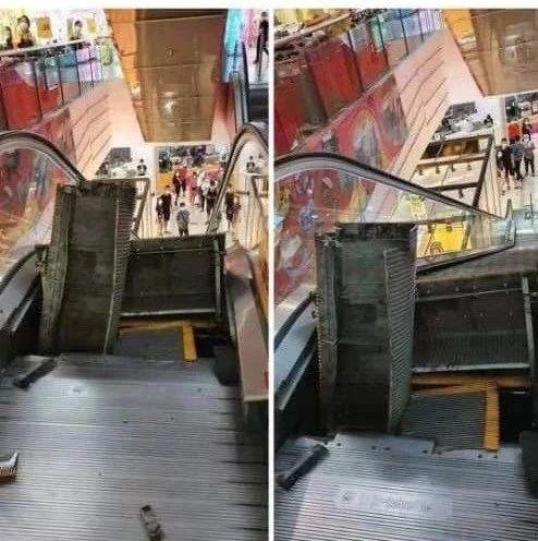 马来西亚一商场扶梯,变成这样了!