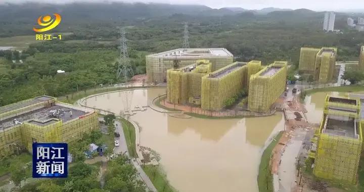 阳江应用型本科院校景观建设工程全面铺开