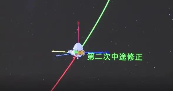 天问一号完成第二次轨道中途修正,探测器各系统状态良好