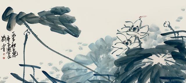 「津门网」画家画的花鸟有点老先生的味道,但画面干净老辣