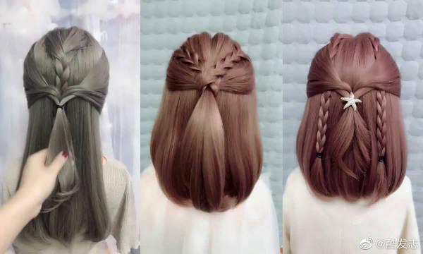 长发短发都适合扎的流行编发发型……