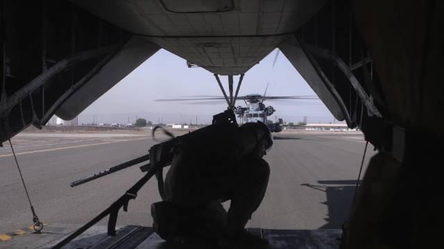 9.21德克萨斯州埃尔帕索,美国海军某部CH-53K训练