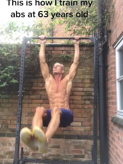 英国63岁硬核健身爷爷,玩转街头健身……