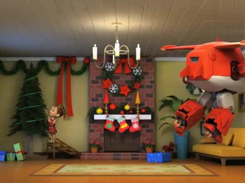 超级飞侠:大家终于看到了圣诞老人不过雪橇坏了乐迪是时候帮忙了