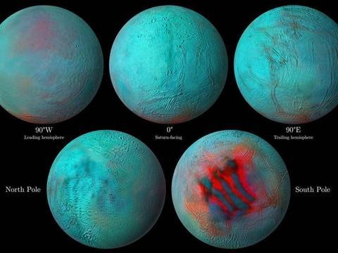"""""""红外眼睛""""观察到土卫二北半球的新冰"""