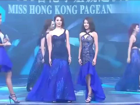 2016香港小姐决赛,冯盈盈等进入四强的紧张时刻,艳压群芳