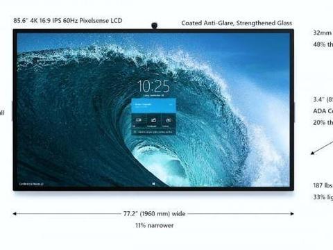 85英寸版Surface Hub被曝光:采用4K分辨率
