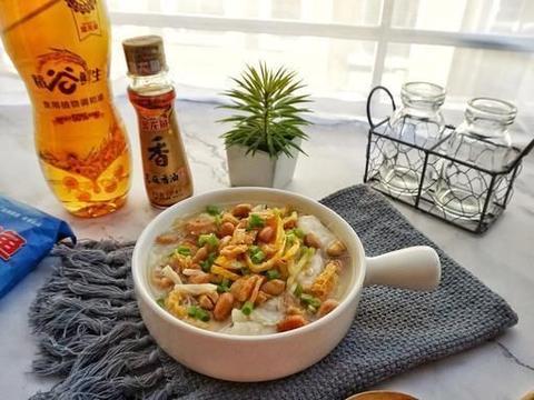 用料丰富的艇仔粥,学会这个秘籍,在家也能做成广州酒楼级别的粥