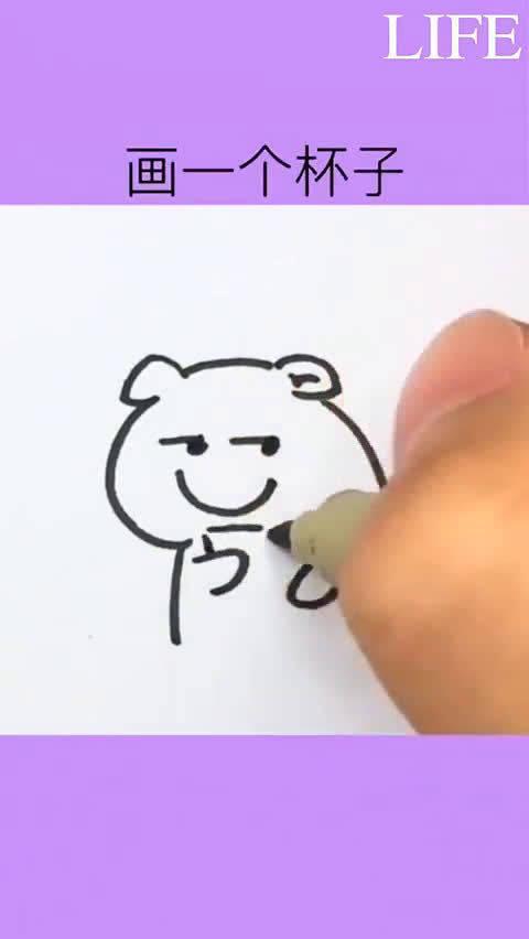 超可爱的简笔画合集系列 一看就会,马住!!