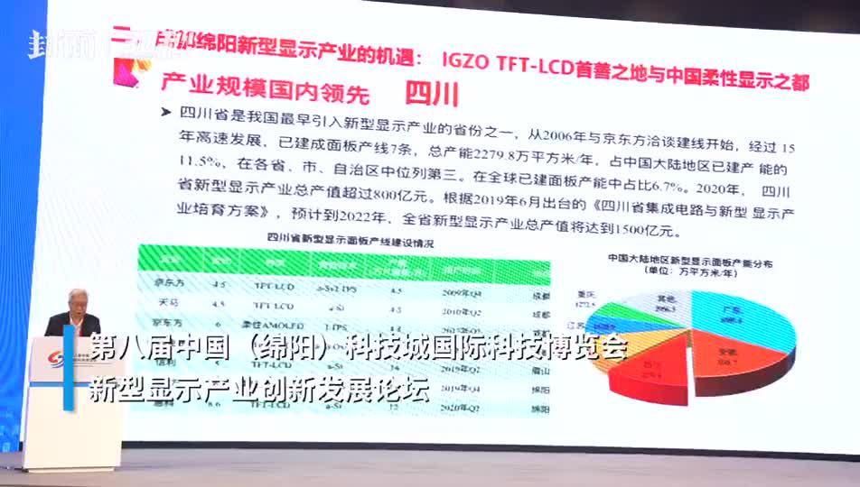 30秒|中国科学院院士欧阳钟灿:新型显示产业规模四川国内领先