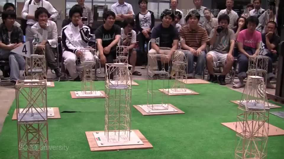 日本大学做的一个抗震模型试验,到底哪种结构夺冠呢