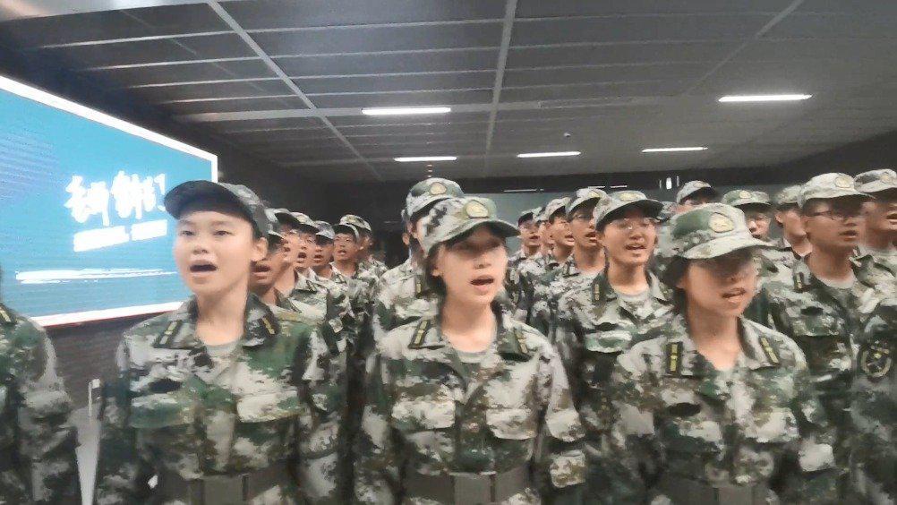 天津大学2020军训拉歌汇演风采展示——材料学院来啦!