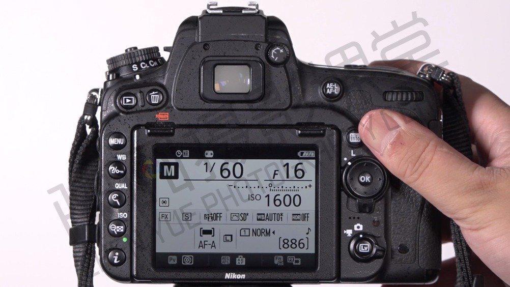 相机使用加拍成_尼康D750测光模式和影像区域