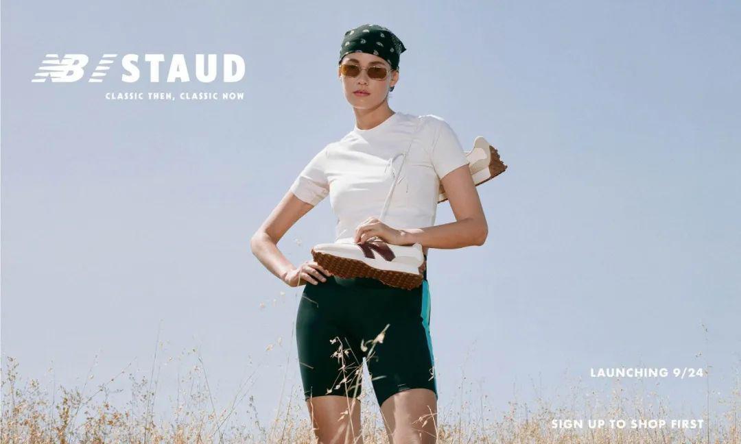 继前段时间与洛杉矶的时尚品牌 STAUD 推出过New Balance
