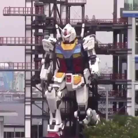 日本超大的高达模型启动成功,难道动画的内容真的可以成真?!
