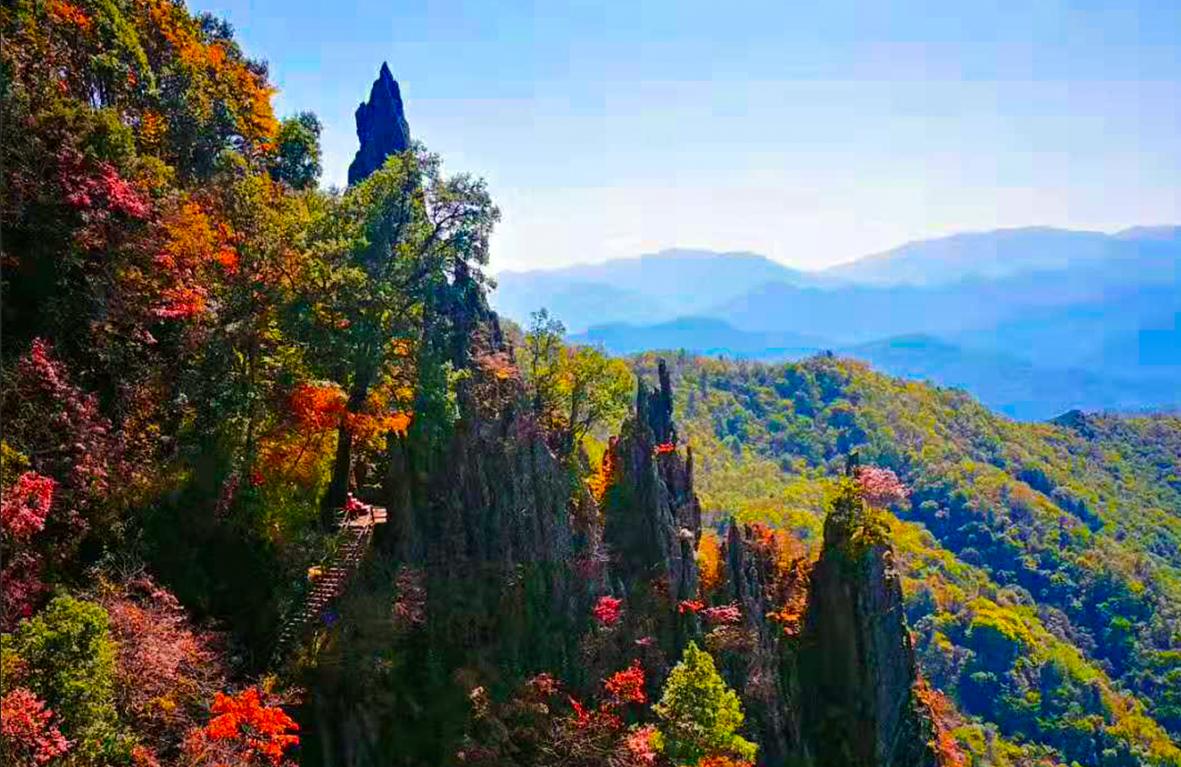 陕西(岚皋)南宫山的秋景,美的让人心