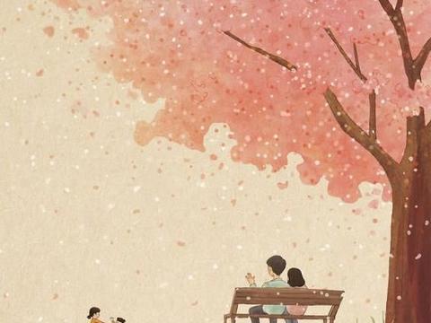 温馨治愈的插画,一对儿可爱的小姐妹,构建了一个唯美的童话世界
